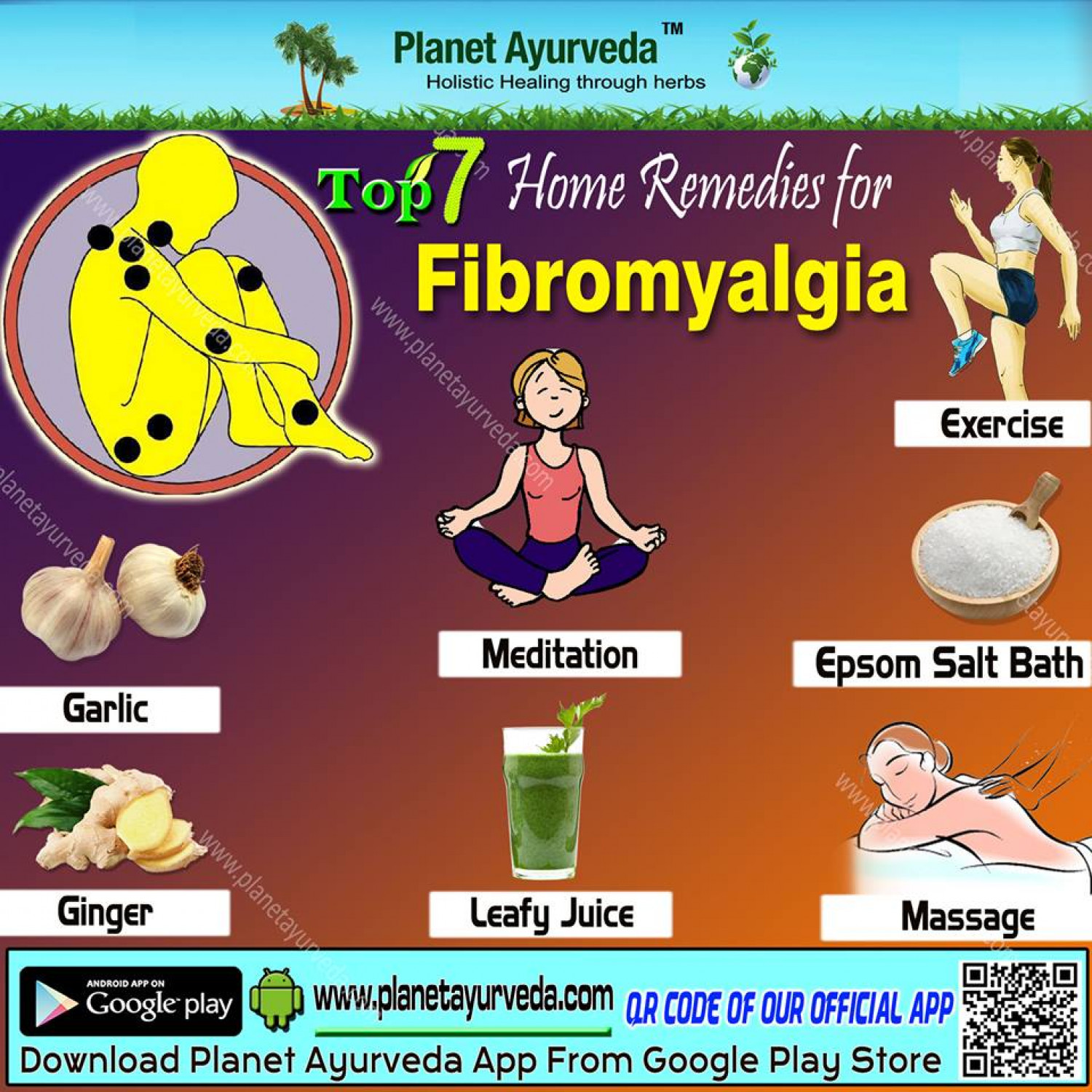 Top 7 Home Remedies for Fibromyalgia Infographic