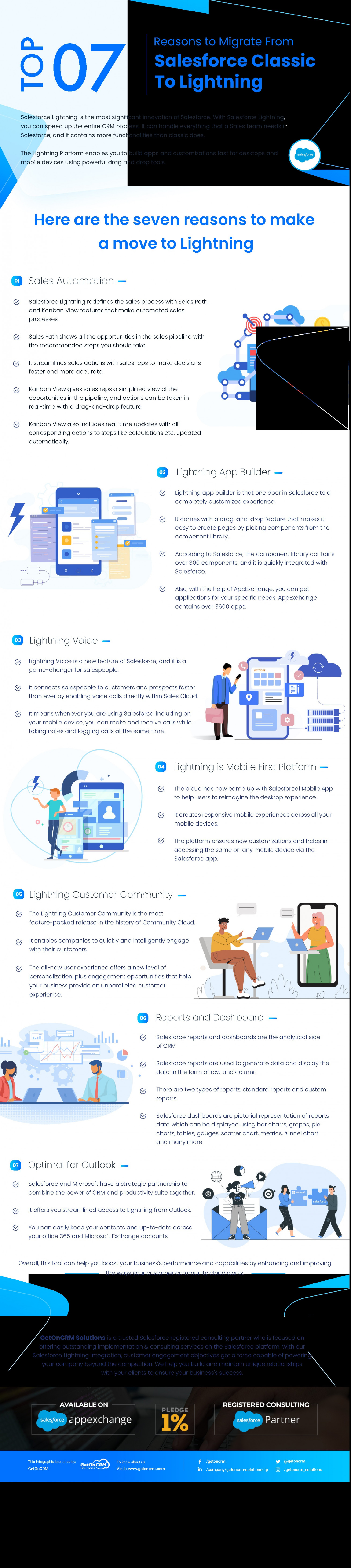 Top 7 Reasons To Migrate From Salesforce Classic To Lightning Infographic