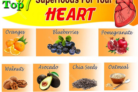 Top 7 Superfoods For Your Heart Infographic