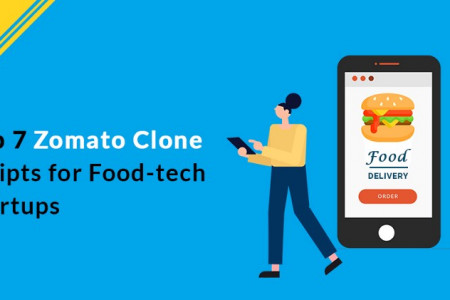 Top 7 Zomato Clone Scripts for Food-Tech Startups Infographic