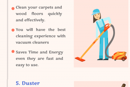 Top 8 Essential Cleaning Products Infographic
