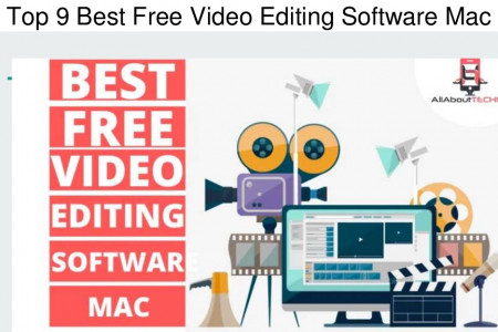 Top 9 Best Free Video Editing Software Mac | AllAboutTechno Infographic