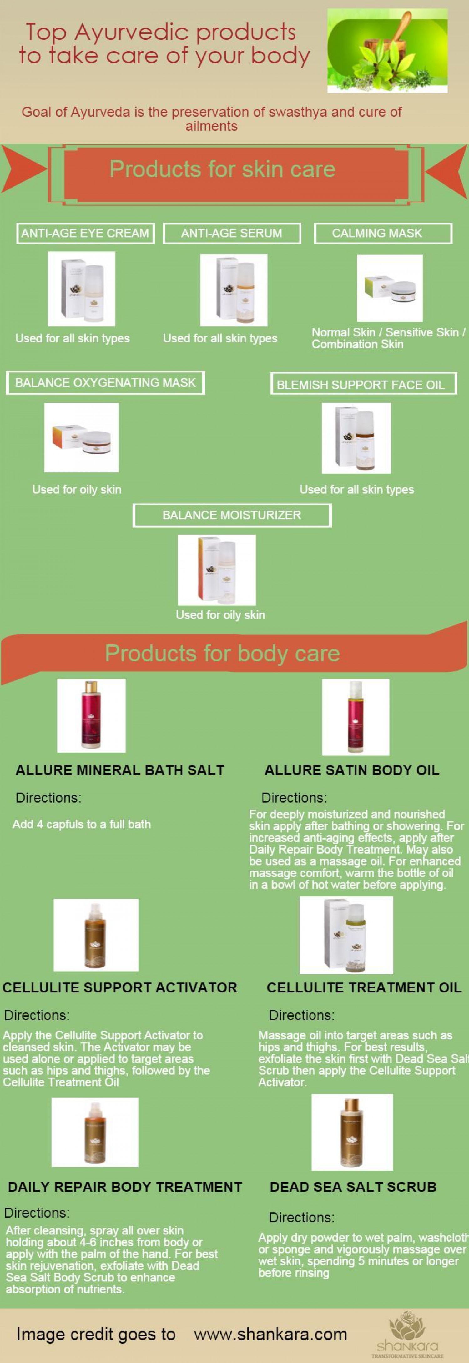 Top Ayurvedic products to take care of your body Infographic