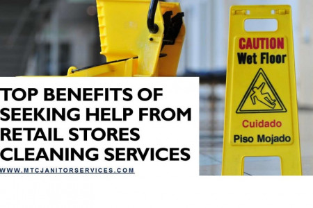 Top Benefits of Seeking Help from Retail Stores Cleaning Services Infographic