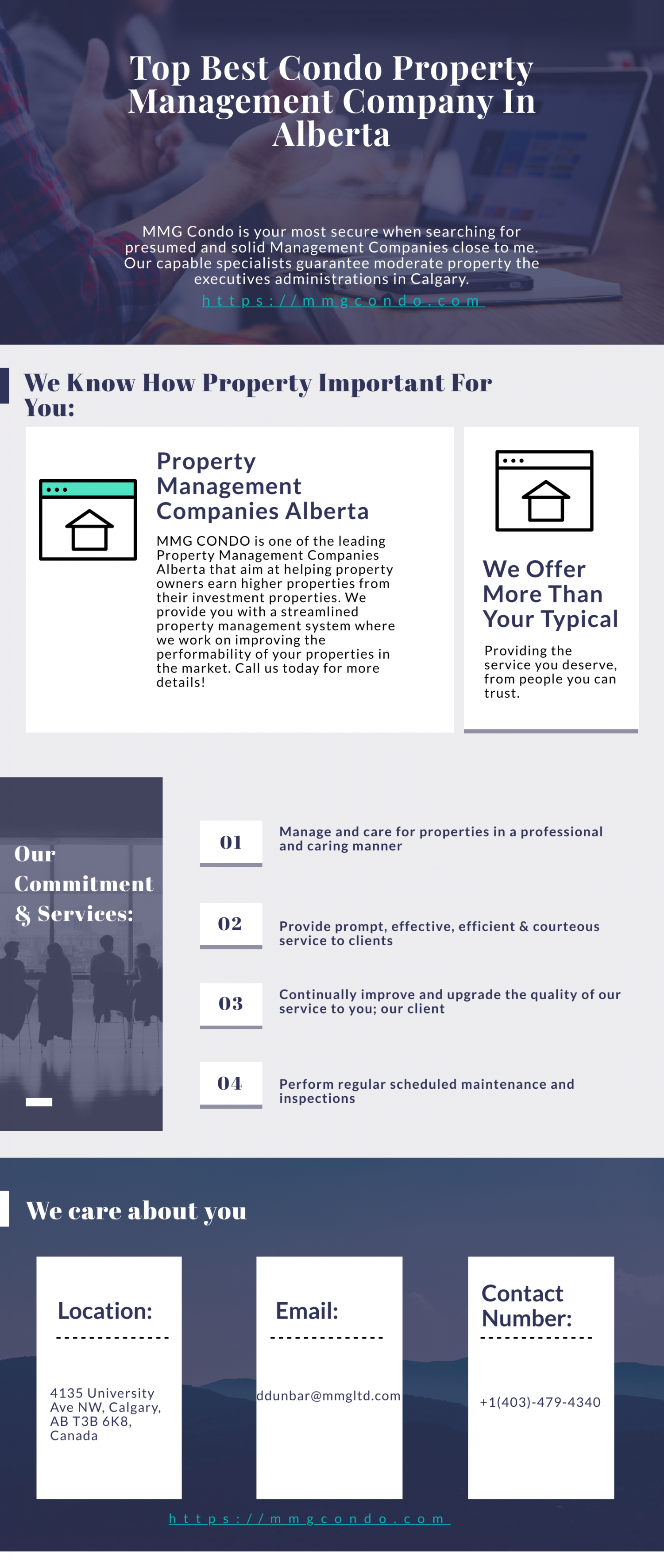 Top Best Condo Property Management Company In Alberta | MMG Infographic
