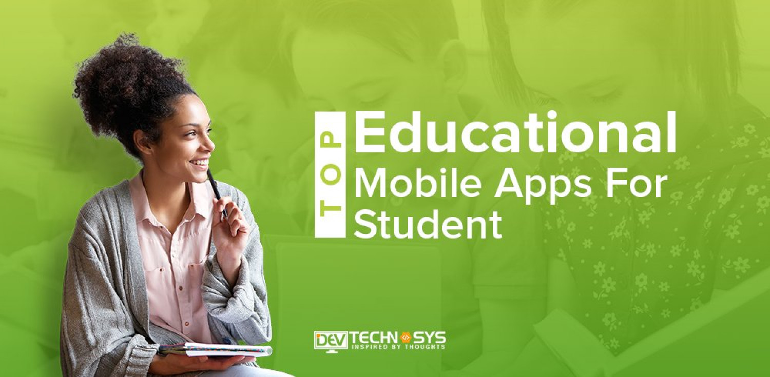 Top Educational Mobile Apps For Student Infographic