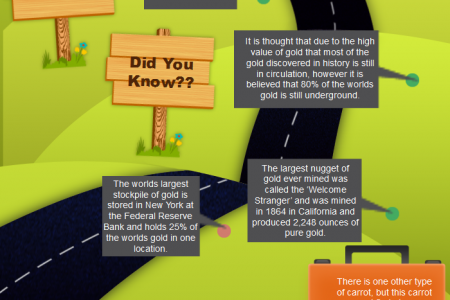 Top Facts About Gold Infographic