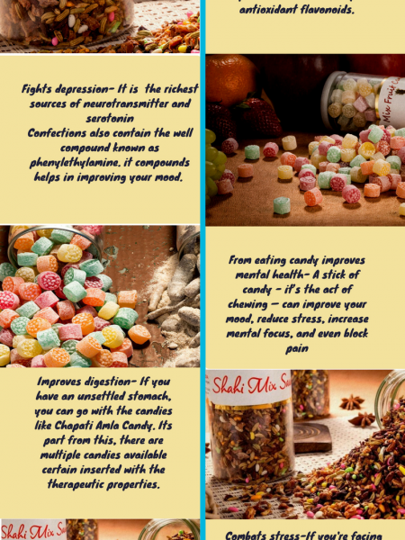 Top Five Health Benefits To Eating Candies - Shadani Group Infographic