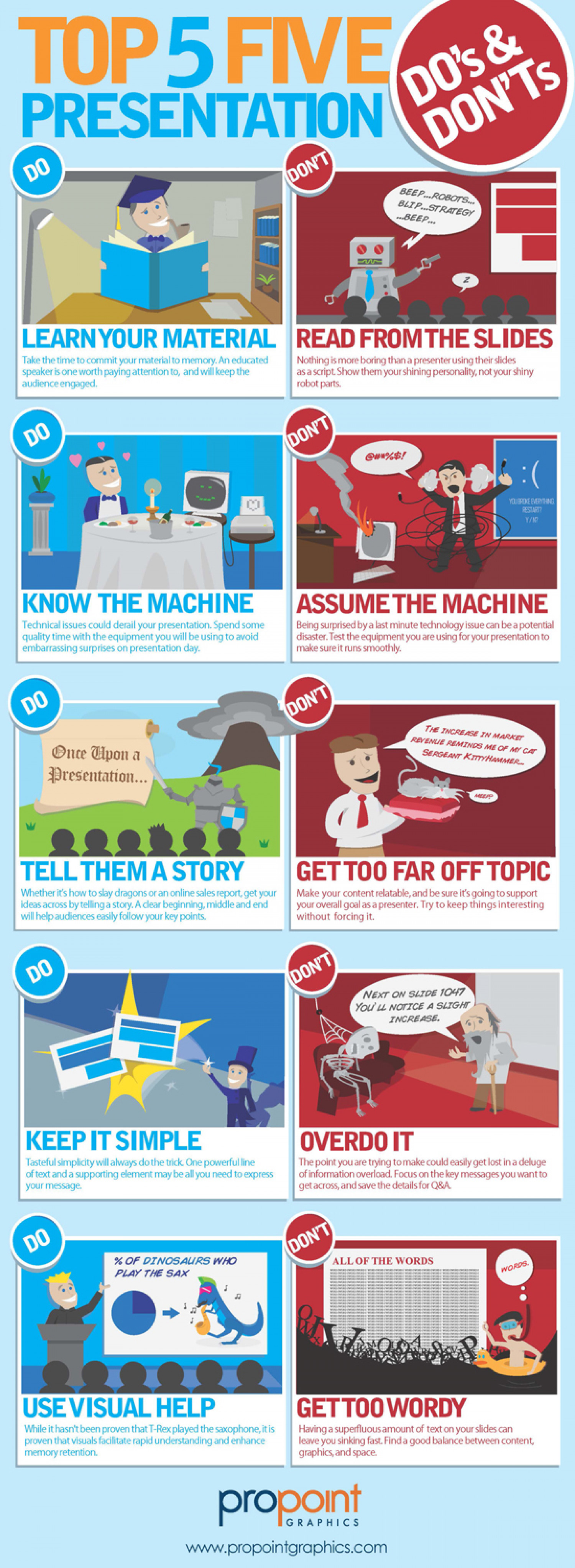 Top Five Presentation Do's & Don'ts Infographic
