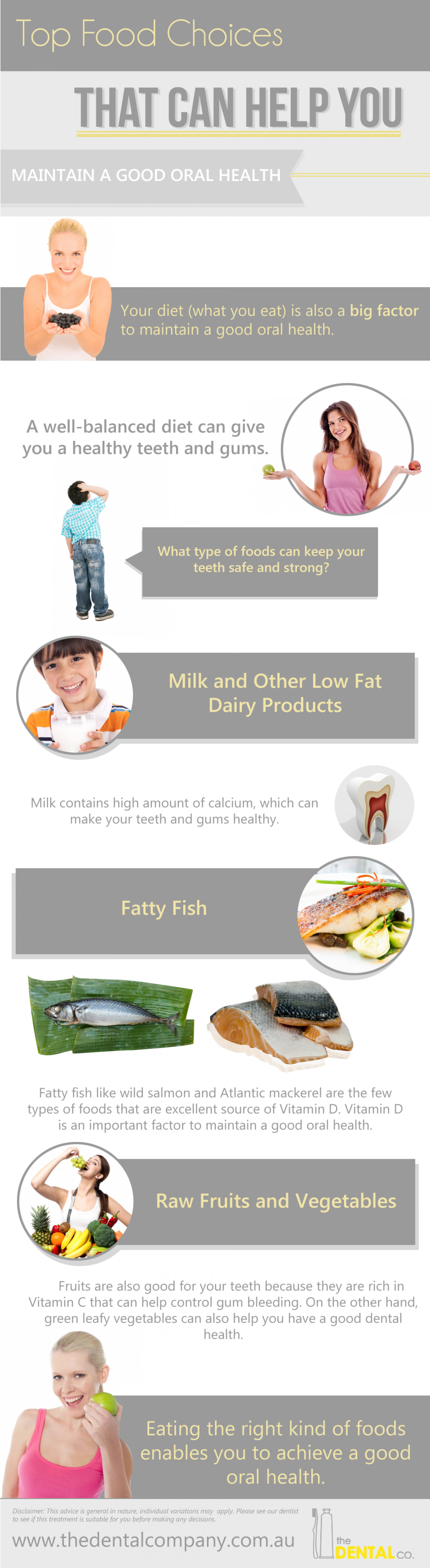 Top Food Choices That Can Help You Maintain a Good Oral Health  Infographic