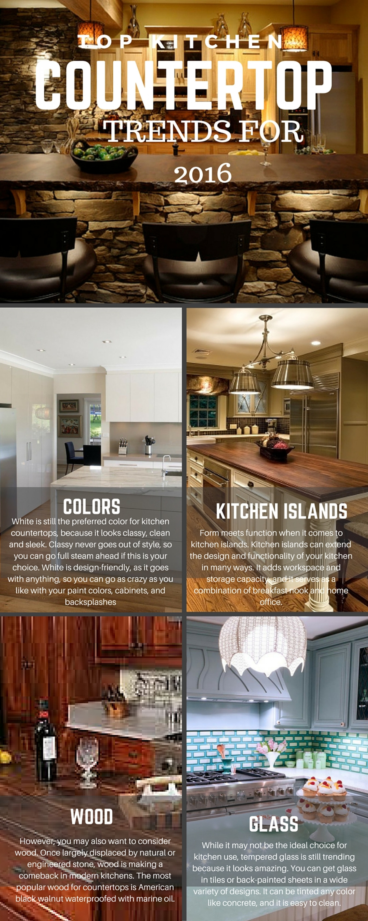 Top Kitchen Countertop Trends For 2016 Infographic