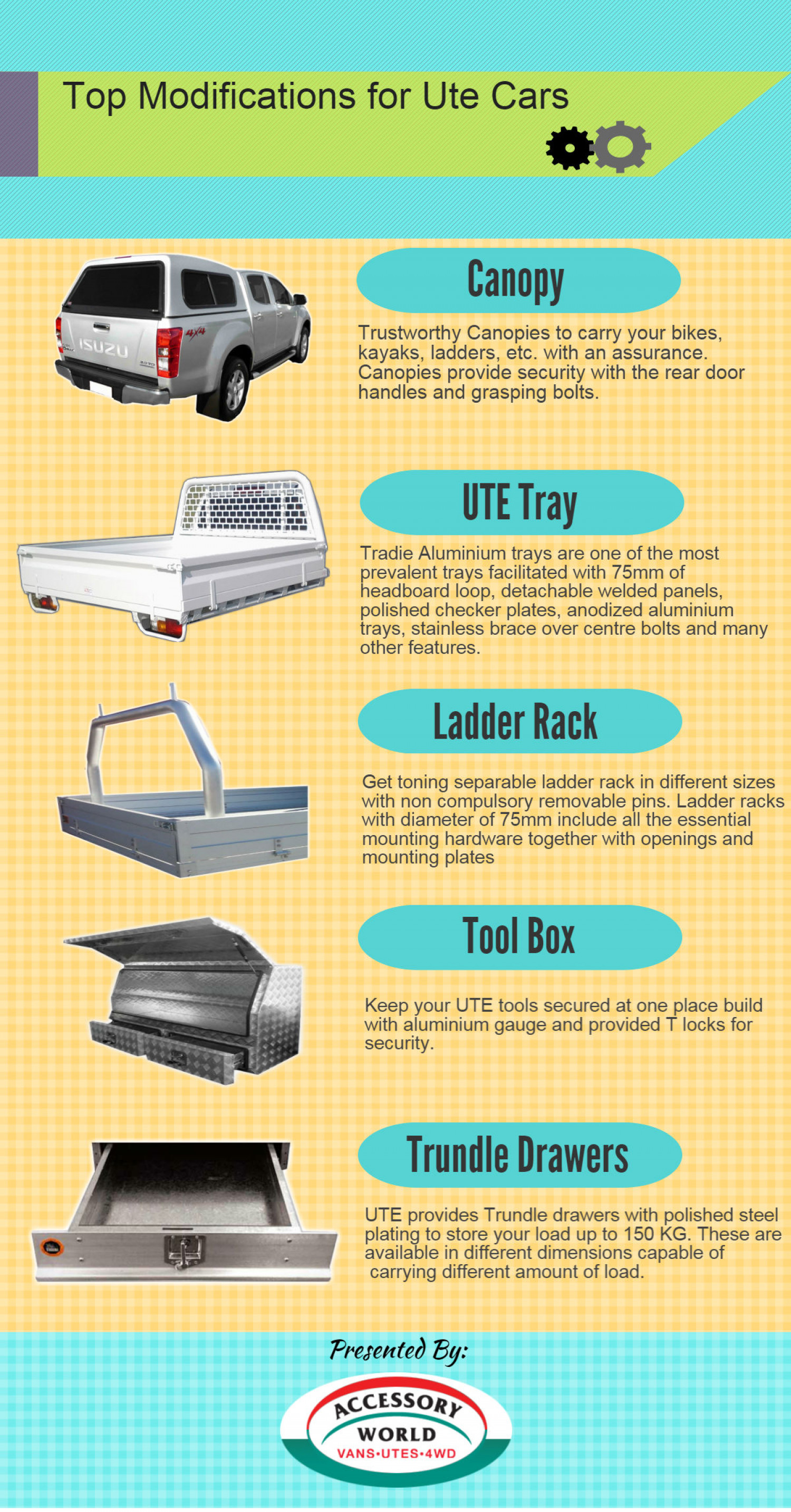 Top Modifications for Ute Cars Infographic