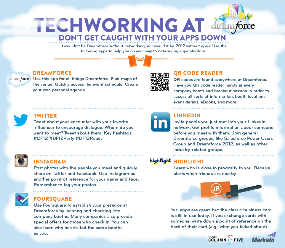 Top Networking Apps for Dreamforce '12 | Visual ly