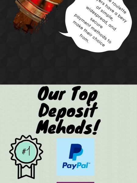 Top online deposit methods Infographic