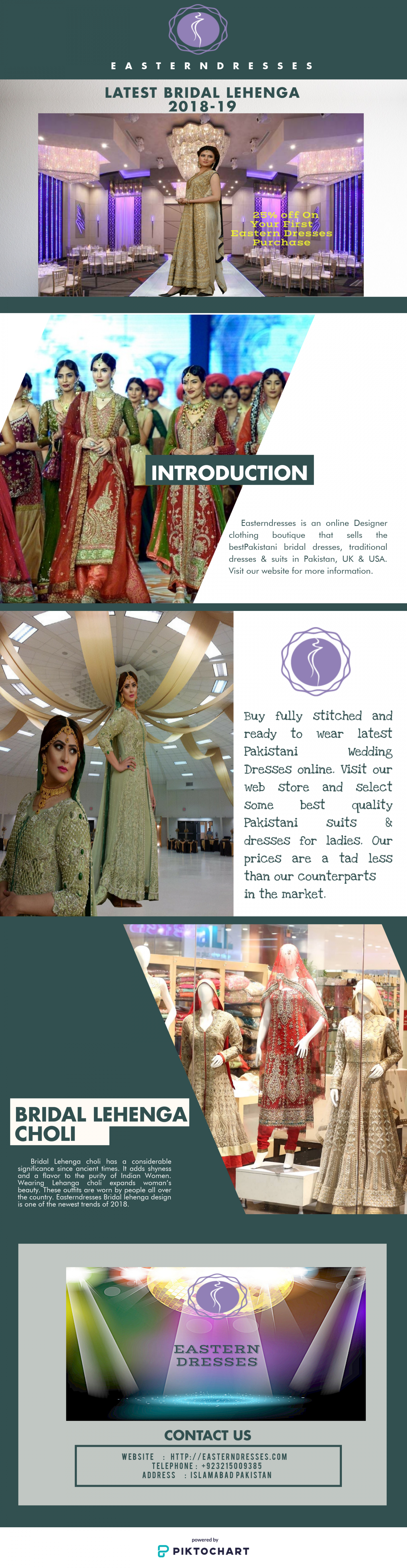 Top Rated Bridal Lehenga 2018 in USA. Infographic