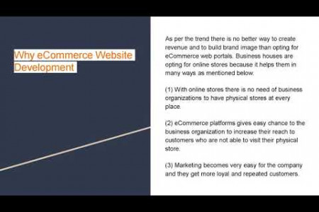 Top Reasons to Select eCommerce Web Development Infographic