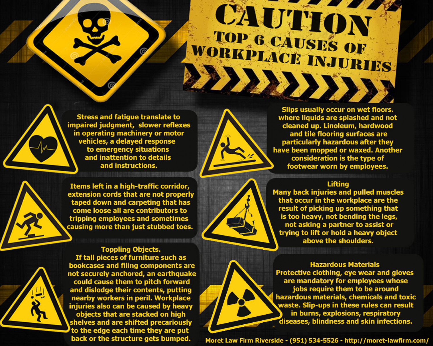 Top 6 Causes Of Workplace Injuries Infographic