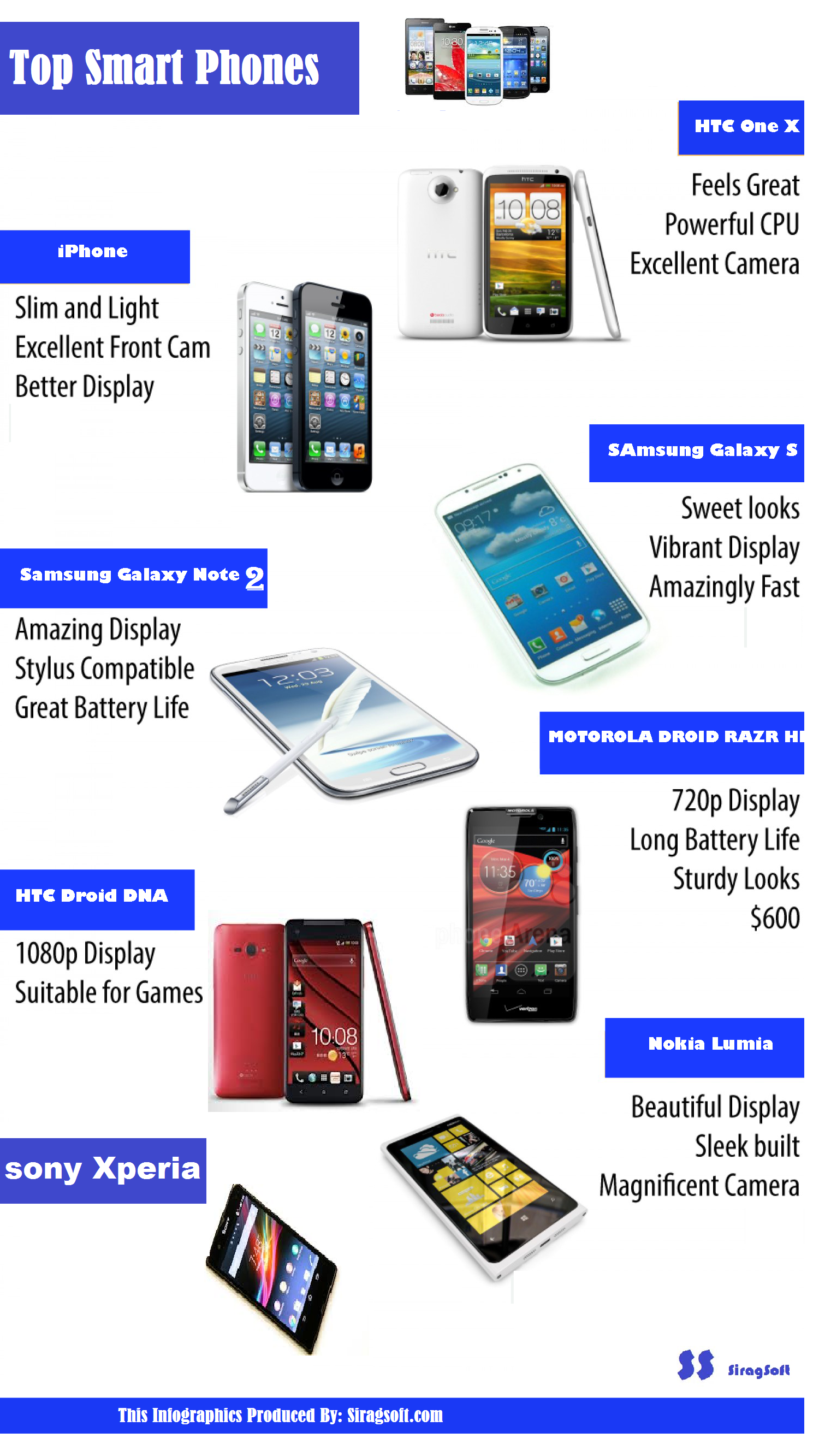 Top Smartphone for 2013 Infographic