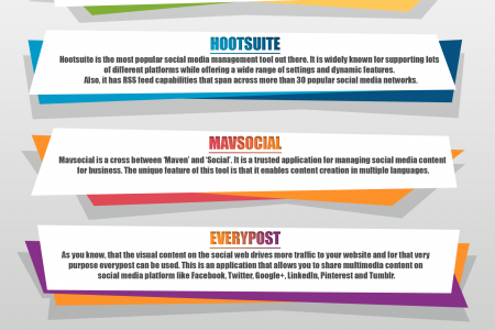 Top Social Media Management Tools You Must Have Infographic
