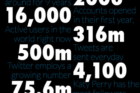Top ten Twitter facts! Infographic