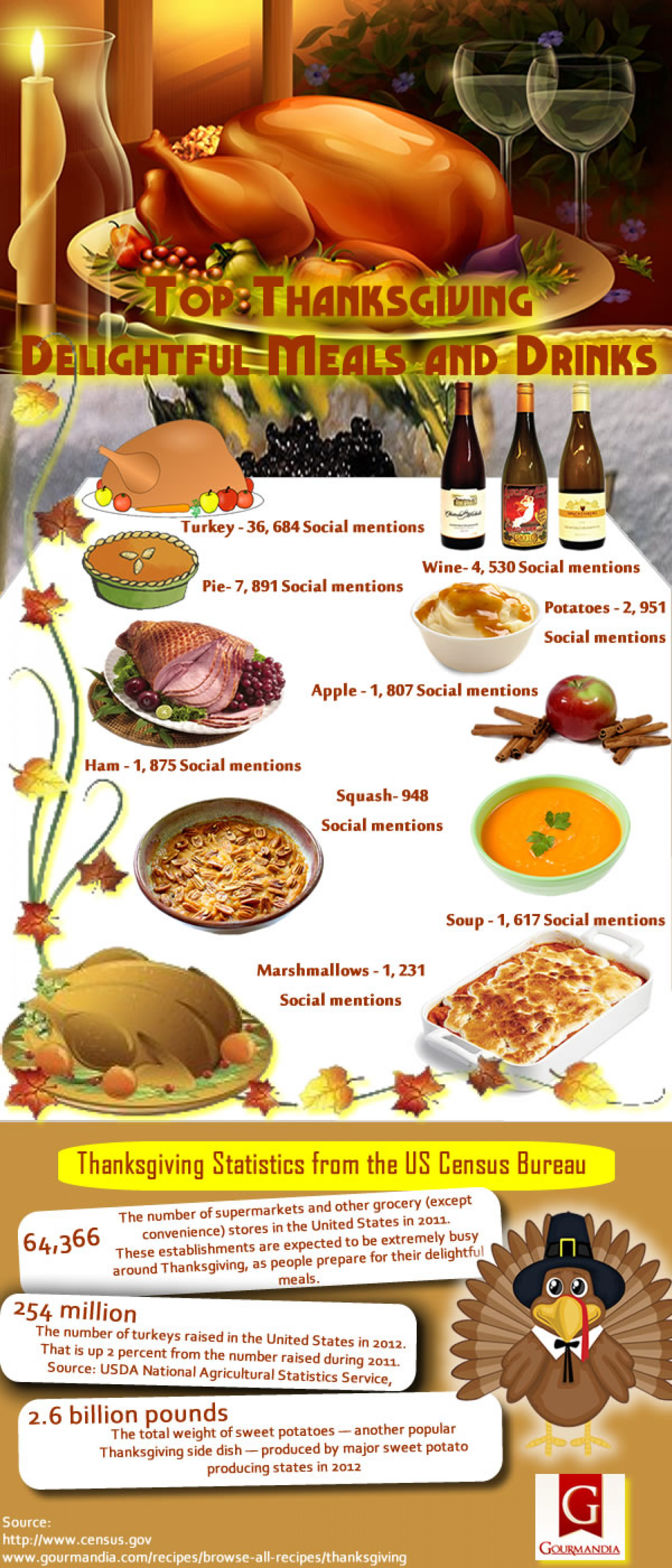 Top Thanksgiving Delightful Meals and Drinks Infographic