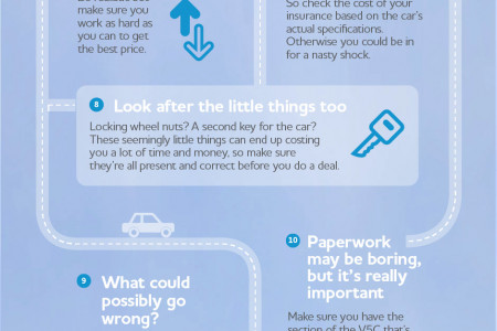 Top tips for buying a car Infographic