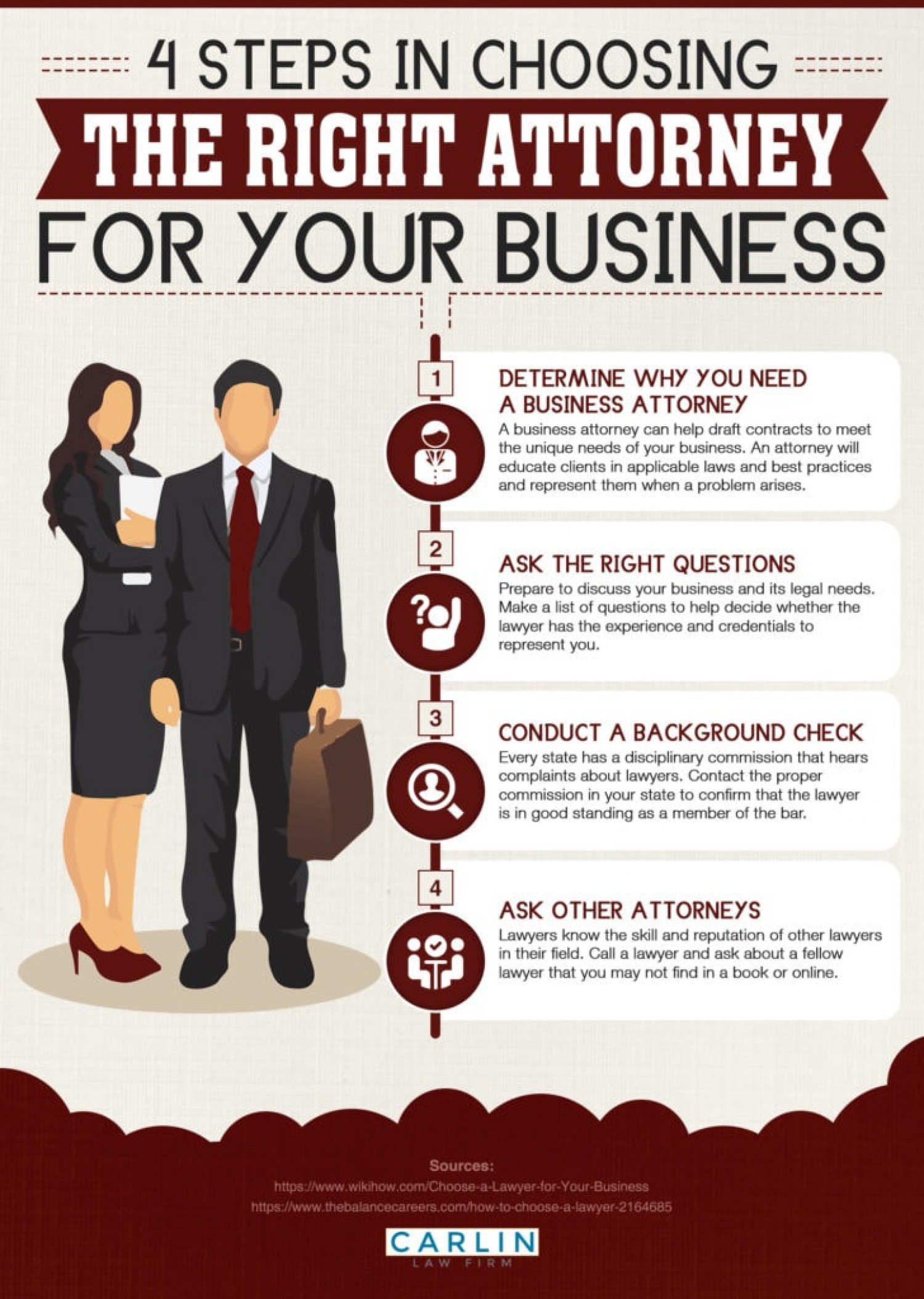 Top Tips for Choosing the Right Business Attorney Infographic