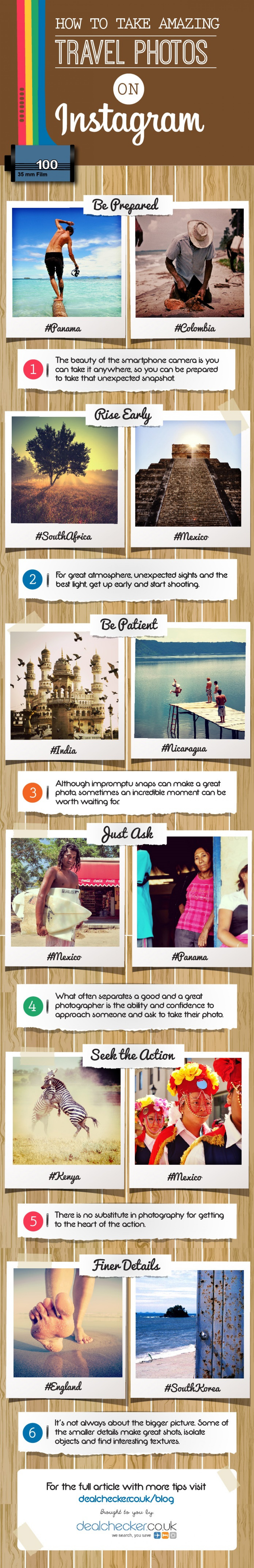 Top Tips for Instagram Travel Photography Infographic