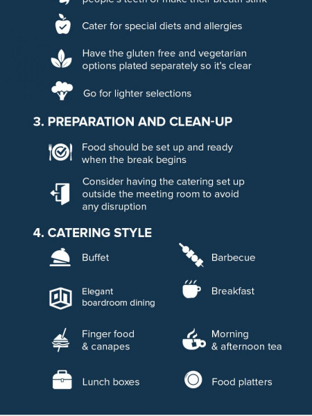 Top tips for ordering corporate catering  Infographic