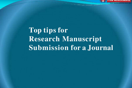 Top tips for Research Manuscript Submission for a Journal - phdassistance.com Infographic