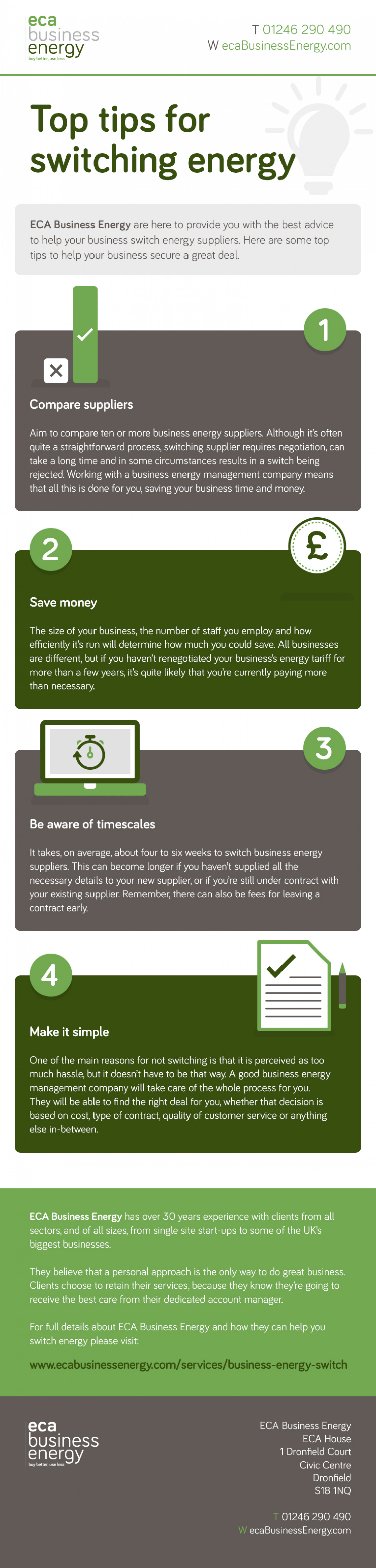 Top Tips for Switching Energy Infographic