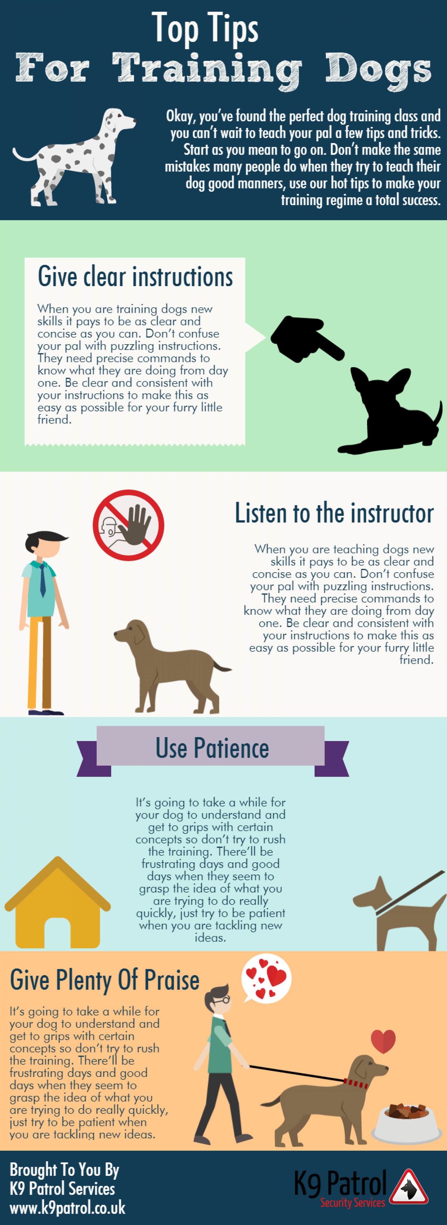 Top Tips For Training Dogs Infographic