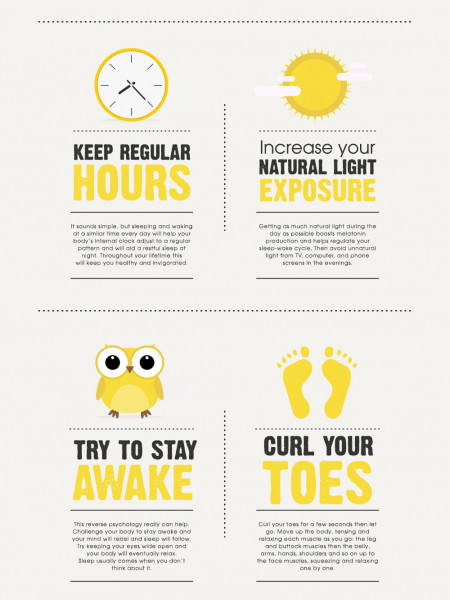 Top tips on how to get a good nights sleep Infographic