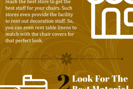 Top Tips to Reach the Beautiful Affordable Chair Covers for a Perfect Setting Infographic