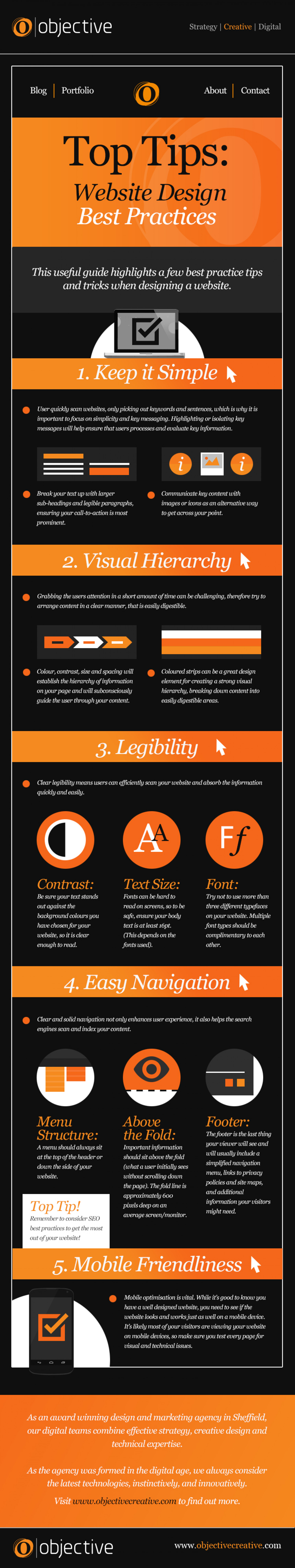 Top Tips: Website Design Best Practices Infographic