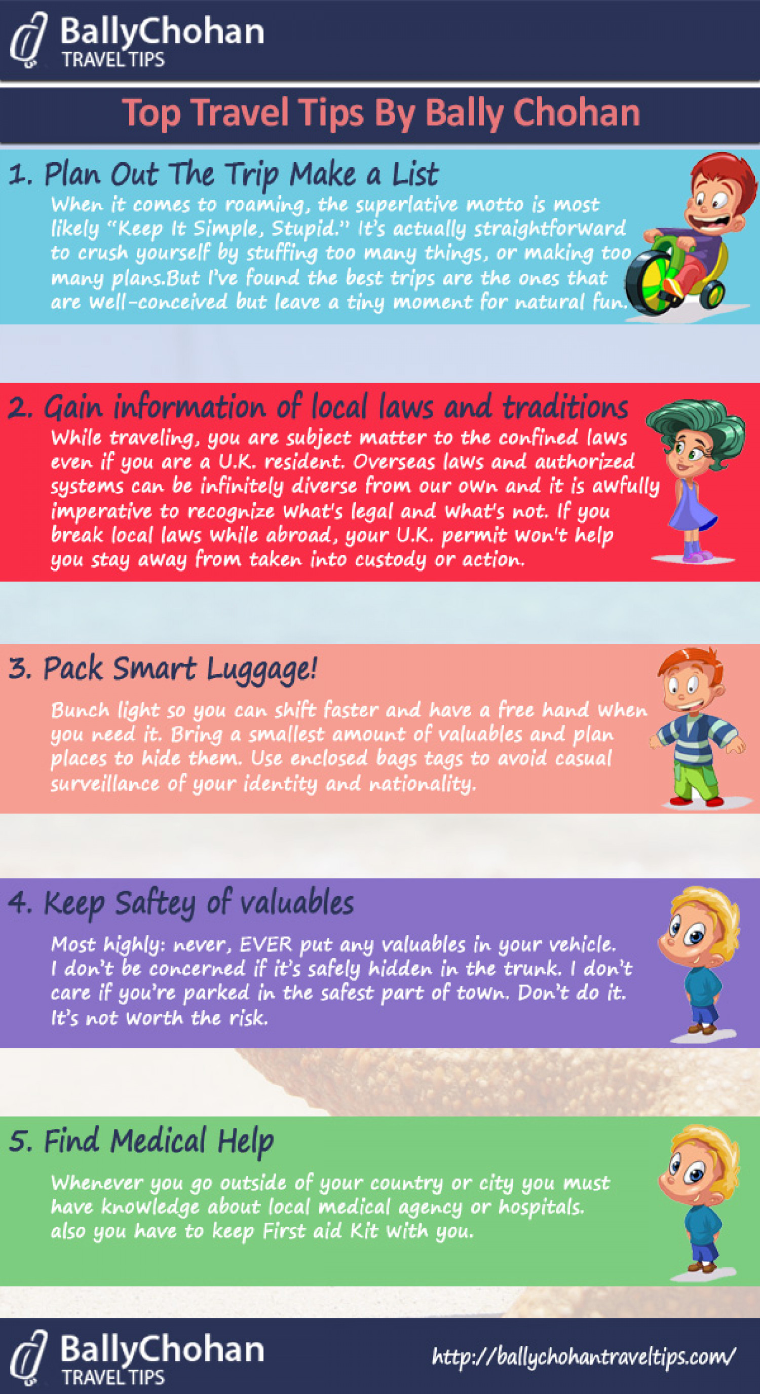 Top Travel Tips By Bally Chohan Infographic
