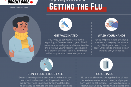 Top Ways to Avoid Getting the Flu Infographic