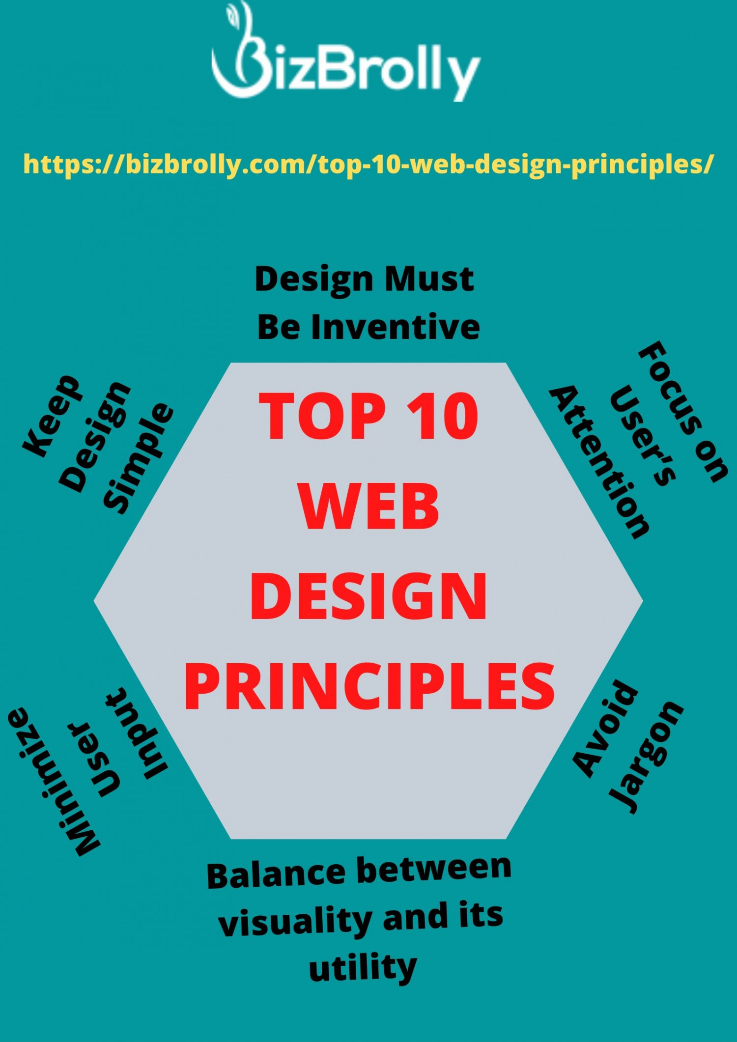 TOP WEB DESIGN PRINCIPLES Infographic