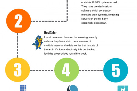 Top Web Hosting company Facts and Analysis Infographic