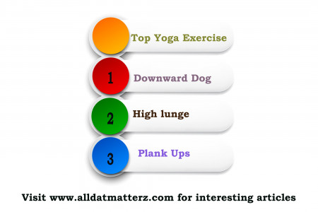 Top yoga exercises to perform. Infographic