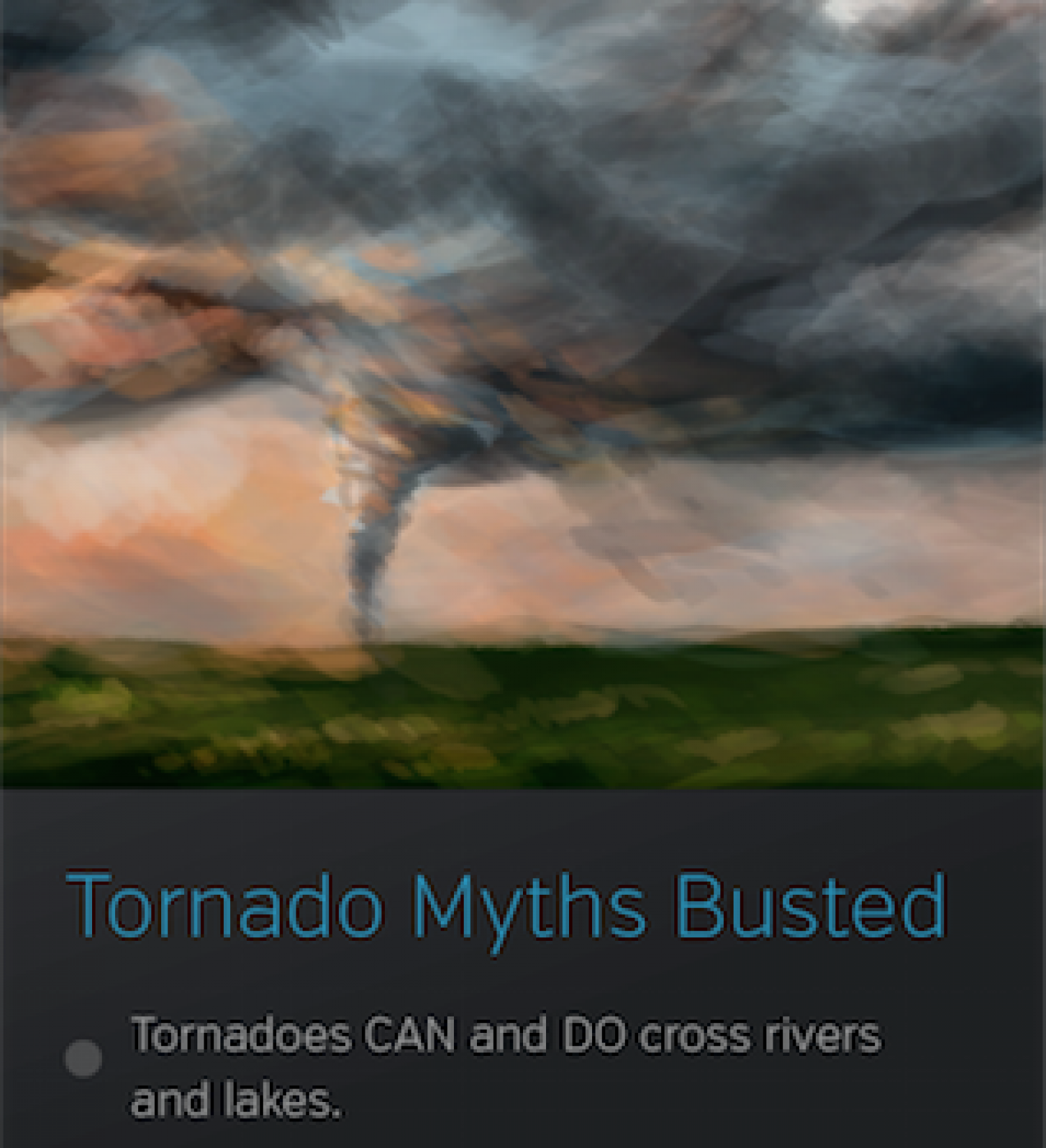 Tornado Myths Busted Infographic