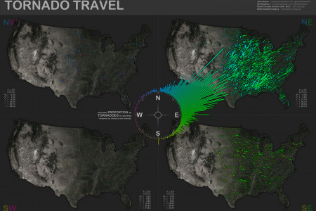 Tornado Travel Map Infographic