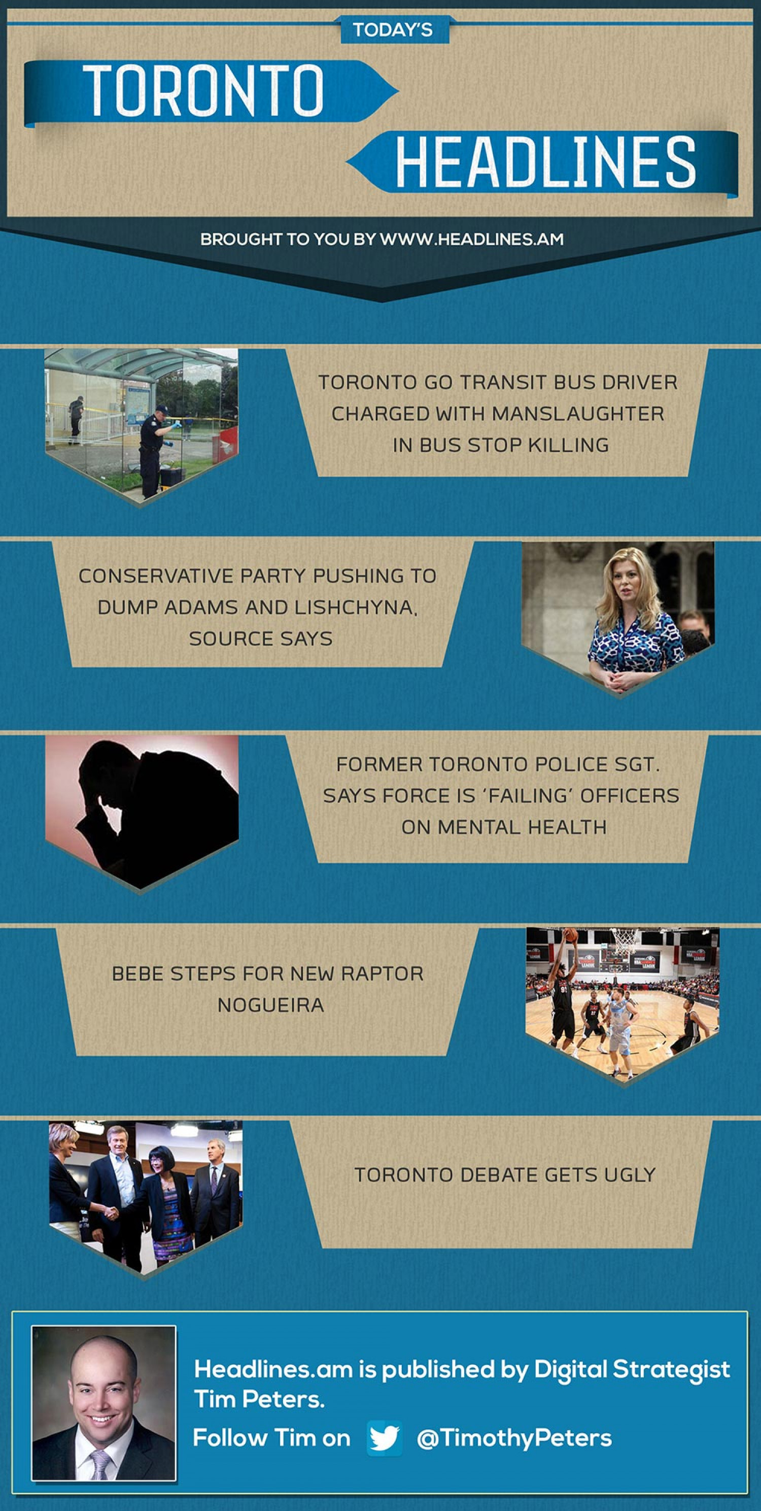 TORONTO NEWS HEADLINES  - July 17, 2014 Infographic