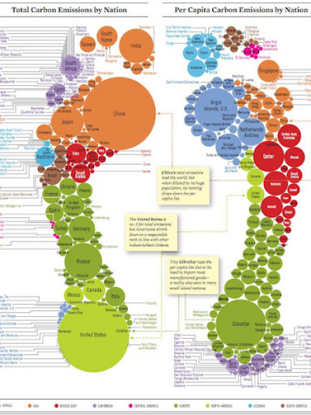 Total Carbon Emissions by Nation Infographic