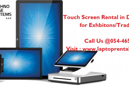 Touch Screen Rental Dubai Infographic
