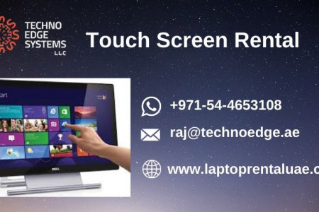 Touch Screen Rental Infographic
