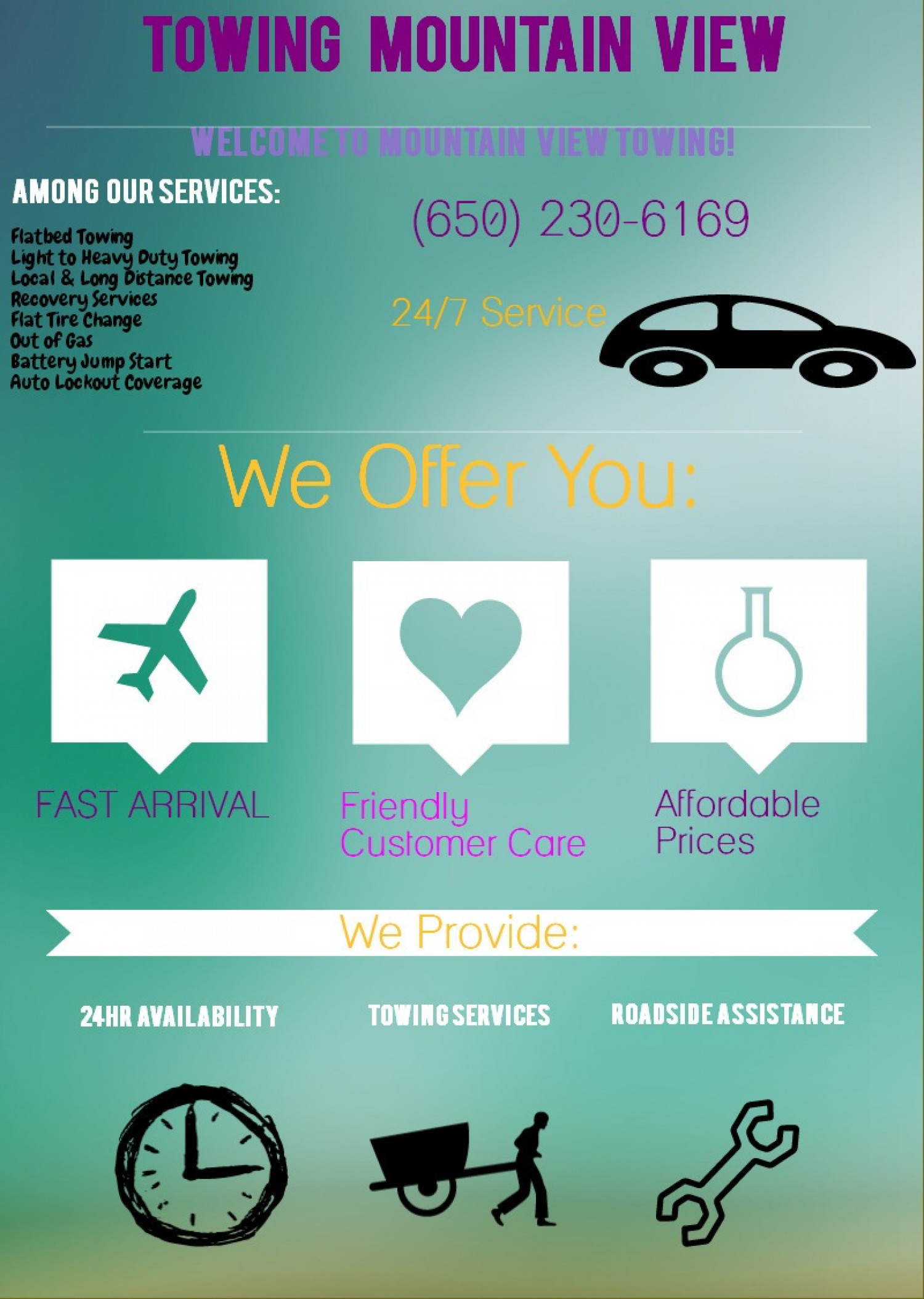 Towing Mountain View Infographic
