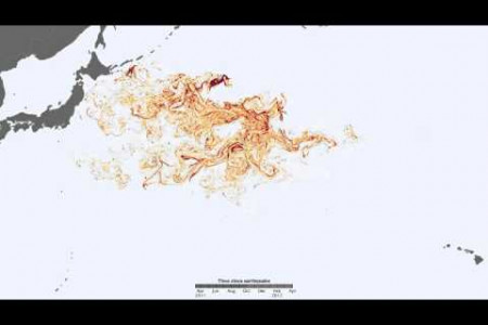 Tracking Debris from the Tohoku Tsunami Infographic