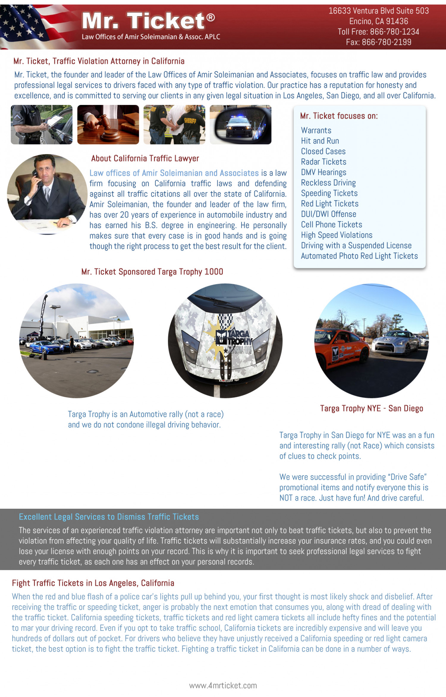 Traffic Violation Attorney Infographic