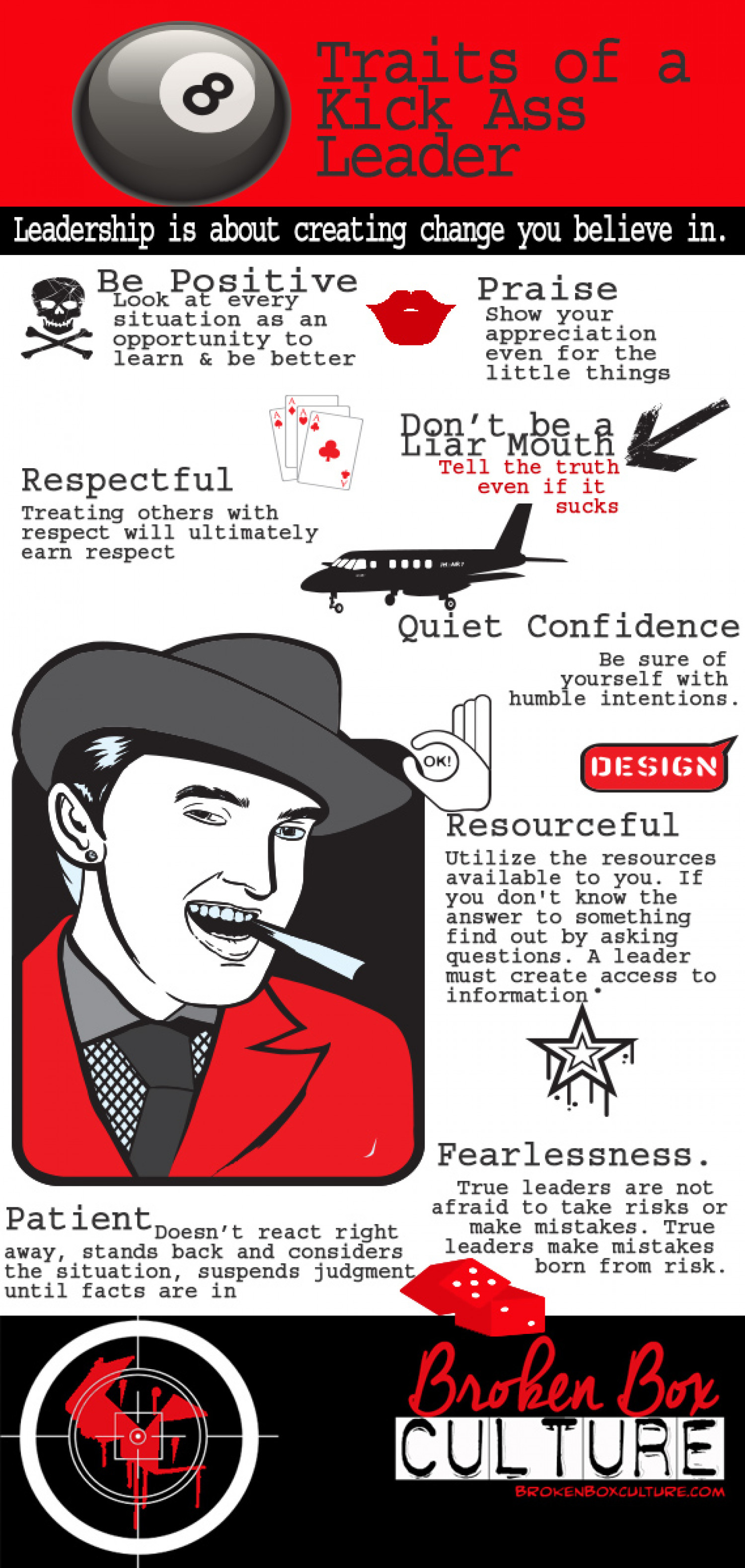 Traits of a Kick Ass Leader Infographic